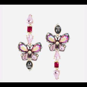 New Betsey Johnson Butterfly Blitz  Earrings